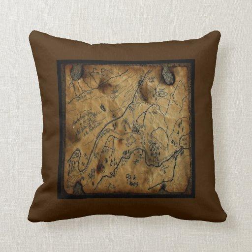 Pirate Treasure Map Haines Alaska Pillow
