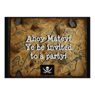 "Pirate Treasure Map Haines Alaska 5"" X 7"" Invitation Card"