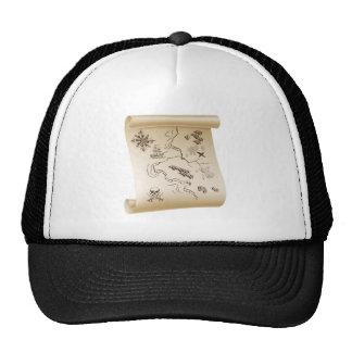 Pirate Treasure map Mesh Hats
