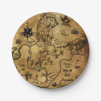 Pirate Treasure Map Paper Plate