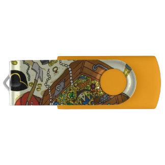 pirate USB Swivel Stick by DAL USB Flash Drive