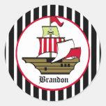 Pirate Voyage Round Sticker