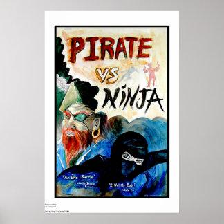 PIRATE vs NINJA Poster