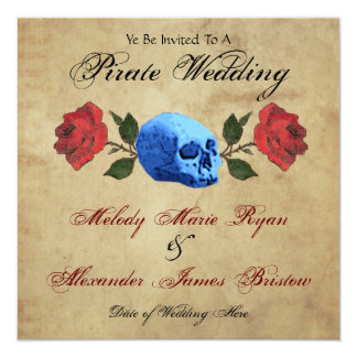 Pirate Wedding 13 Cm X 13 Cm Square Invitation Card