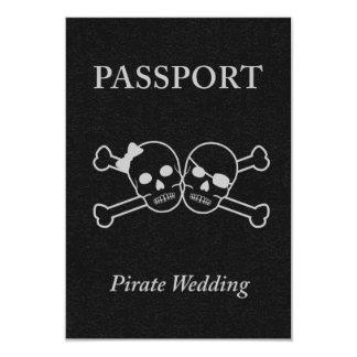 pirate wedding passport 9 cm x 13 cm invitation card