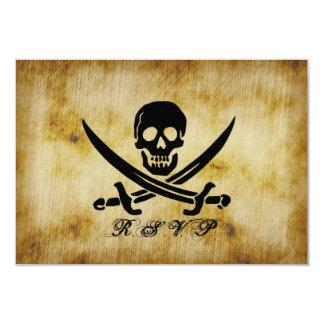 Pirate Wedding RSVP Response Card 9 Cm X 13 Cm Invitation Card