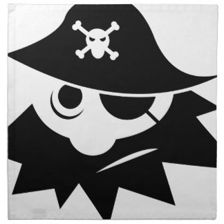 Pirate with Eye Patch Napkin