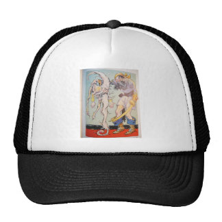 Pirate With Sea Creature Trucker Hats