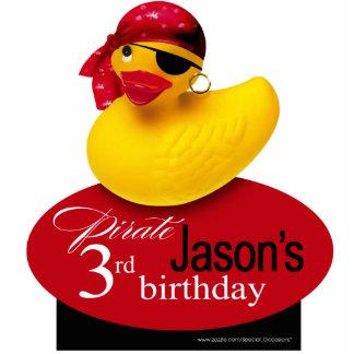 Pirate Yellow Rubber Ducky Birthday Centerpiece Standing Photo Sculpture