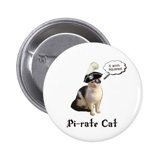PiRateCat Pinback Button