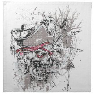 pirated dead skull vintage design napkin