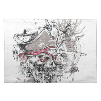 pirated dead skull vintage design placemat