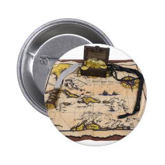 PirateMapTreasure050110 Pinback Button