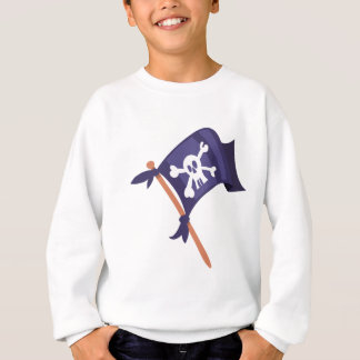 Piratenfahne pirate flag sweatshirt