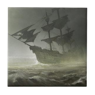 Pirates Aboard Small Square Tile
