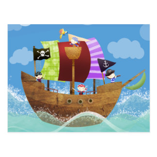pirates ahoy gifts postcard