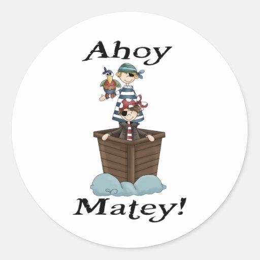Pirates Ahoy Matey Sticker