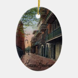 Pirates Alley French Quarter Ceramic Ornament
