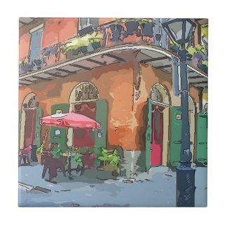 Pirates Alley New Orleans Small Square Tile