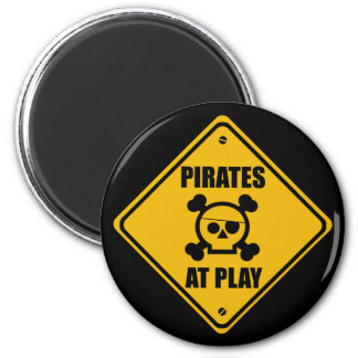 Pirates At Play Sign - Magnet