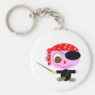 pirates basic round button key ring