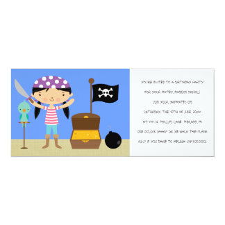 Pirates Birthday Party Invitations (for girls)