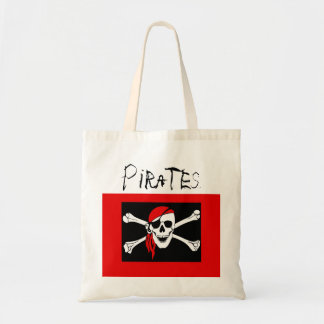 Pirates - Black and Red Pirate Skull
