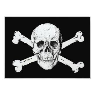 Pirates Black Skull and Crossbones Card
