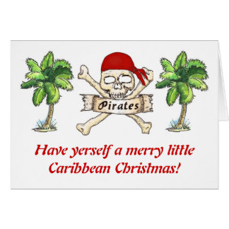Pirate's Caribbean Christmas Card