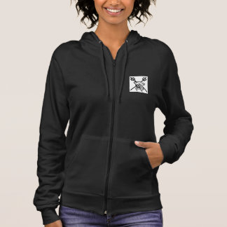 Pirate's Coral Womens Black Hoodie