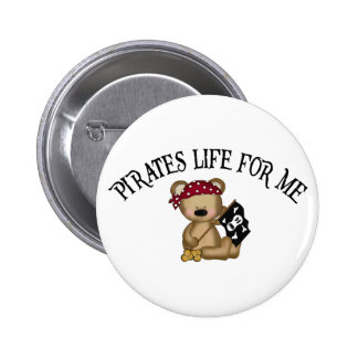 Pirates Life For Me 6 Cm Round Badge