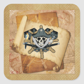 Pirates Life For Me Square Sticker