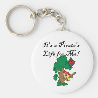 Pirate's Life Basic Round Button Key Ring