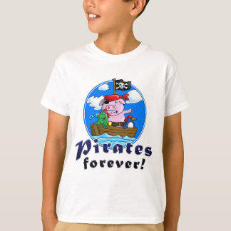 pirates more forver, comic pig, penguin, frog T-Shirt