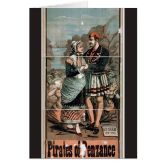 Pirates of Penzance Vintage Theatre Card