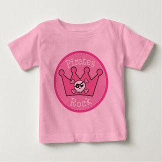 Pirates Rock Girls Pink Baby T-Shirt