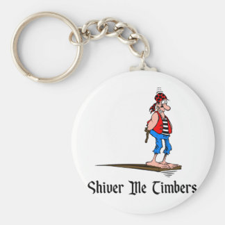 Pirates - Shiver Me Timbers Basic Round Button Key Ring