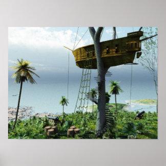 Pirates Treehouse Poster
