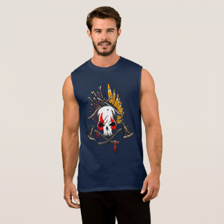 Pirates Ultra Cotton Sleeveless T-Shirt, Navy Sleeveless Shirt