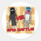 Pirates Vs. Ninja Monkeys Classic Round Sticker