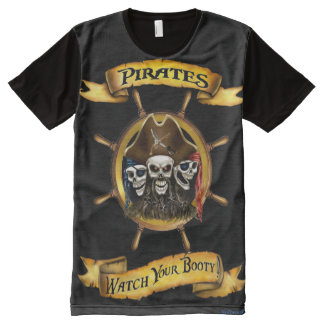 Pirates-Watch Your Booty All-Over Print T-Shirt