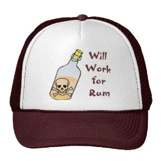 Pirates Will Work for Rum Cap