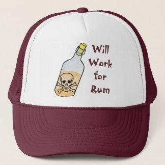 Pirates Will Work for Rum Trucker Hat