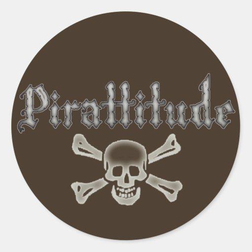 Pirattitude Bone Jolly Roger Sticker