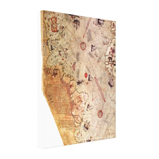 Piri Reis World Map Gallery Wrap Canvas