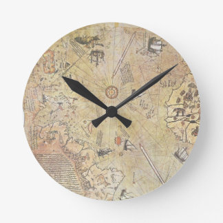 Piri Reis' World Map Wall Clock