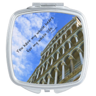 Pisa Cathedral with Love Quote Makeup Mirror