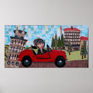 Pisa Driver - Bonorand Art Poster