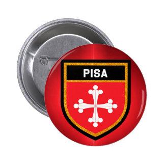 Pisa Flag 6 Cm Round Badge