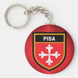 Pisa Flag Basic Round Button Key Ring